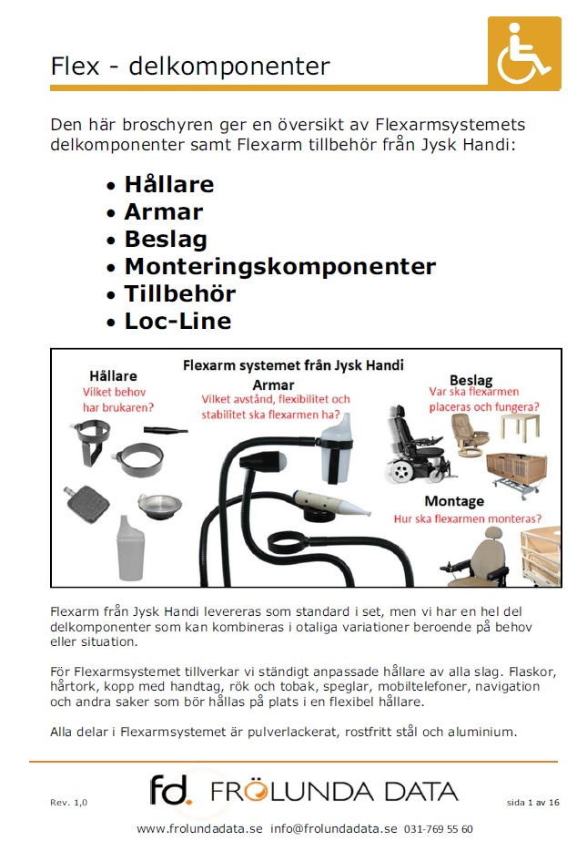 Delkomponenter till Flexsystemet