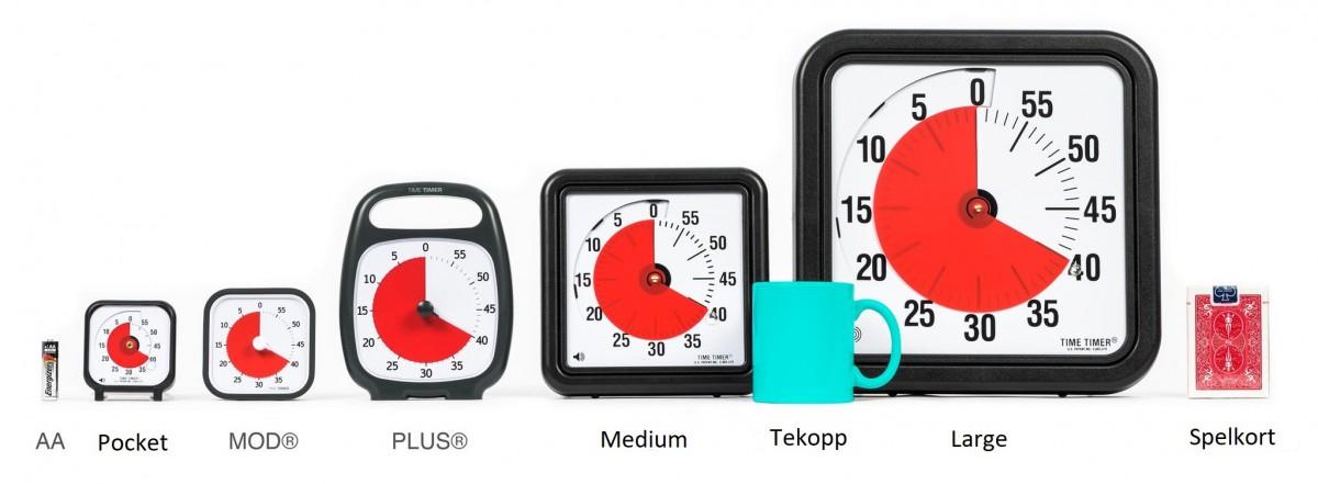 Time Timer Plus, vit 20 min. Nyhet!