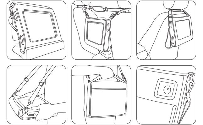Big Grips Hipster väska till Tweener för iPad Mini